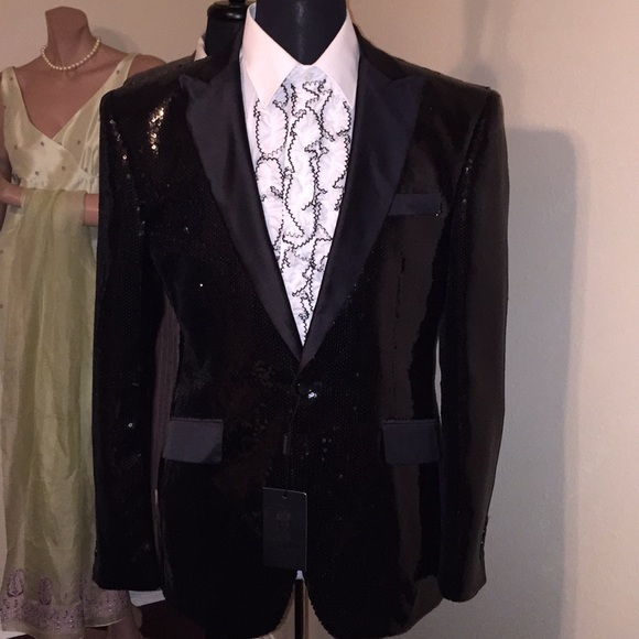 be488e10 Angelino Jackets & Coats | Mens Sequin Evening Jacket By New | Poshmark